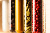 Spices in beakers — Stock Photo