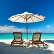 Beautiful beach at Maldives — Stock Photo #28039587
