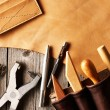Leather crafting tools — Stock Photo #28805535