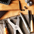 Leather crafting tools — Stock Photo #29172385