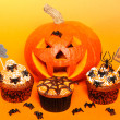 Halloween cupcakes — Stock Photo #29172387