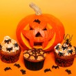 Halloween cupcakes — Stock Photo #29608601