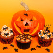 Halloween cupcakes — Stock Photo #29608601