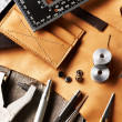 Leather crafting tools — Stock Photo #29868681