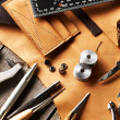 Leather crafting tools — Stok fotoğraf