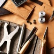 Leather crafting tools — Stock Photo #30961181