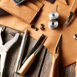 Leather crafting tools — Stock Photo #31238569