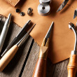 Stock Photo: Leather crafting tools