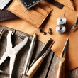Leather crafting tools — Stock Photo #32094601