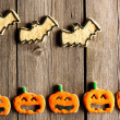 Stock Photo: Halloween homemade gingerbread cookies