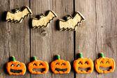 Halloween homemade gingerbread cookies — ストック写真