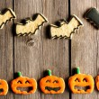 Halloween homemade gingerbread cookies — Stock Photo #32542911