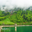 Beautiful emerald mountain lake in Switzerland  — Stok fotoğraf
