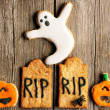 Halloween homemade gingerbread cookies — Stock Photo #33054303