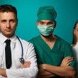 Medical team of doctors — 图库照片