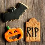 ハロウィーンの自家製のジンジャーブレッドのクッキー — ストック写真
