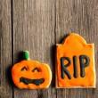 galletas de jengibre casero de Halloween — Foto de Stock