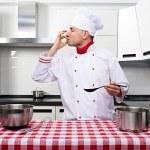 Male chef at kitchen — Stock Photo #33054517