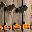 Halloween homemade gingerbread cookies — 图库照片
