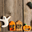 Halloween homemade gingerbread cookies — Stock Photo #33054577