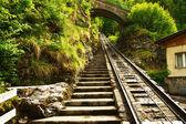 Funicular rail near Reichenbach — Stock Photo