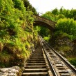 Stock Photo: Funicular rail