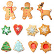 Foto Stock: Christmas gingerbread cookie