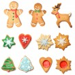 Christmas gingerbread cookie — 图库照片
