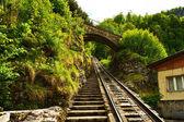 Funicular rail — Stock Photo