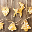 Christmas gingerbread cookies — Stock Photo #34049431