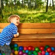 Happy child playing — Stock Photo