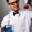 Stock Photo: Crazy scientist
