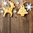 Christmas gingerbread cookies — Stock Photo #34049581
