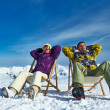 Apres ski at mountains — Stock Photo