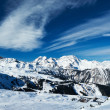 Stock Photo: Mountains with snow in winter