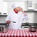 Male chef at kitchen — Stock Photo #34554129