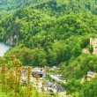 Landscape with castle of Hohenschwangau in Germany — Stock Photo #34554131