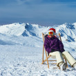 Apres ski at mountains during christmas — Stock Photo
