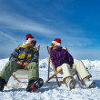 Apres ski at mountains during christmas — Stockfoto