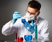 Scientist at laboratory — Stockfoto