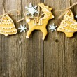 Christmas homemade gingerbread cookies — Stock Photo #35367721