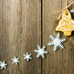 Christmas homemade gingerbread cookies — Stock Photo