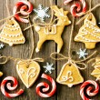 Christmas homemade gingerbread cookies — Stock Photo #35367795