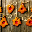 christmas homemade gingerbread cookies — Stock Photo #35367833
