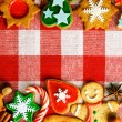 Stock Photo: Christmas gingerbread cookies