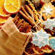Christmas homemade gingerbread cookie and spices — Stock Photo #35367943
