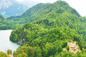 Landscape with castle of Hohenschwangau in Germany — Stock Photo