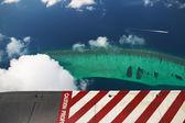 Atolli e isole maldive, vista dall'idrovolante — Foto Stock