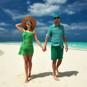 Couple in green — Stock Photo