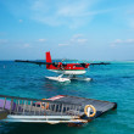 Twin otter seaplane — Stock Photo